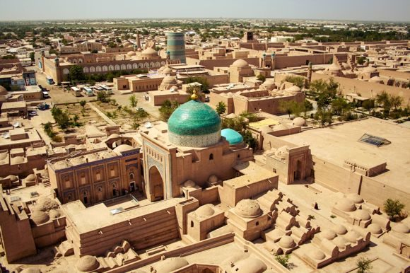 Khiva_Itchan_Kala_view_from_Islam_Khodja_minaret